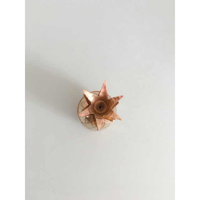 "4.5"" Petite Brass Pineapple Container - Image 3 of 7"