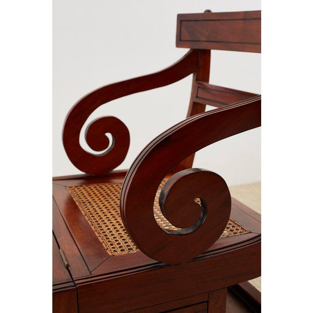 English Regency Style Mahogany Metamorphic Library Step Chair For Sale In San Francisco - Image 6 of 13
