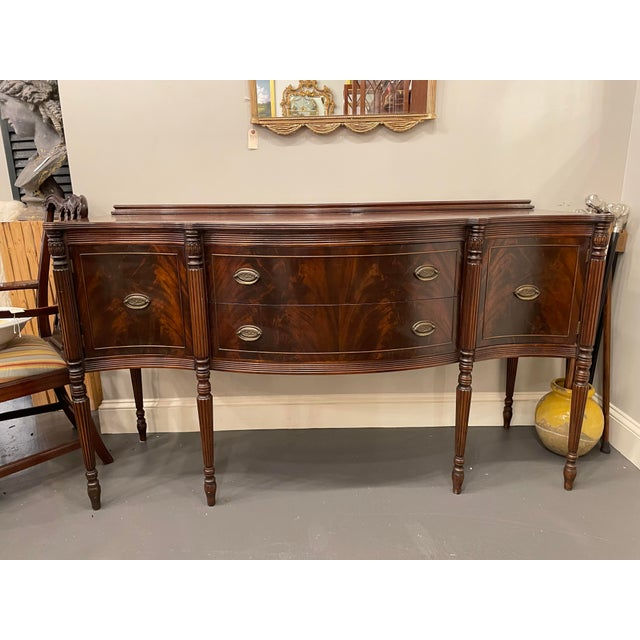 Vintage Sheraton Mahogany Sideboard For Sale - Image 9 of 9