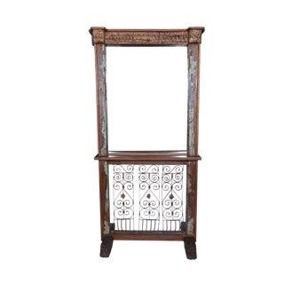Rustic Style Wooden Mirror Dresser