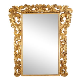 19th Century Rococo Giltwood Mirror For Sale