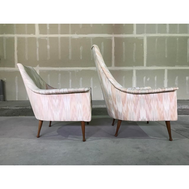 Ben Seibel 20th Century Mid Century Modern Attributed to Ben Seibel Model Deceiver His & Hers Lounge Chairs - a Pair For Sale - Image 4 of 13