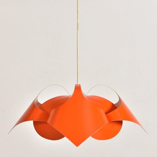 Metal Verner Panton Orange Lamp For Sale - Image 7 of 7