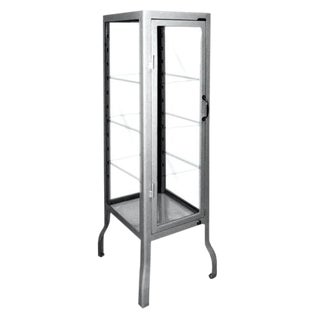 Metal Cabinet With Adjustable Shelves, Lock & Key For Sale