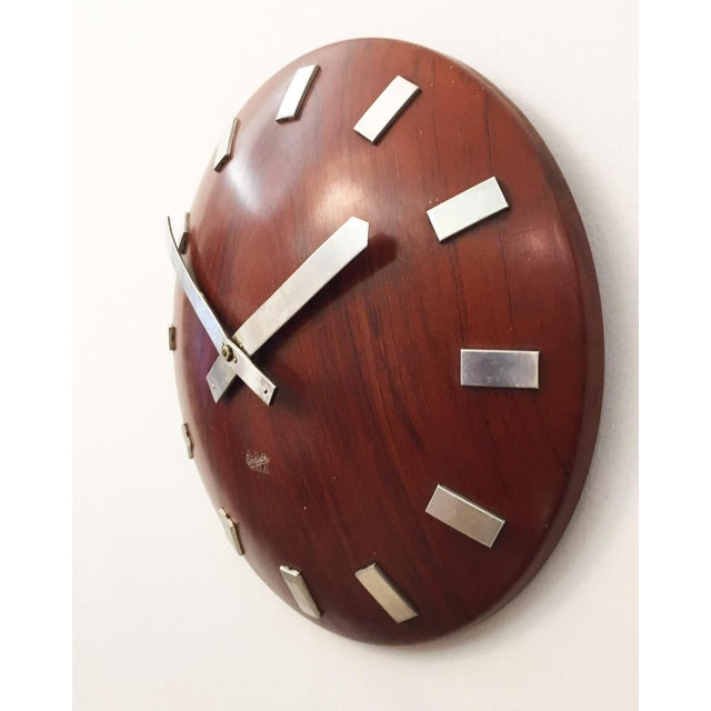 Mid-Century Wall Clock by LM Ericsson, 1962 For Sale - Image 4 of 6