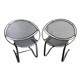 "Salterini Mid-Century ""Radar"" Garden Chairs - A Pair For Sale"