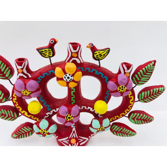 Mid 20th Century Hand Crafted Mexican Tree of Life Candelabra For Sale - Image 5 of 8
