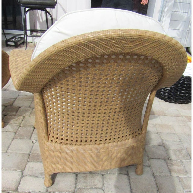 British Colonial Oscar De La Renta by Century Furniture Accent Chairs - a Pair For Sale - Image 3 of 9