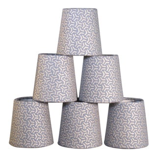 Fortuny Bivio Chandelier Shades - Set of 6 For Sale