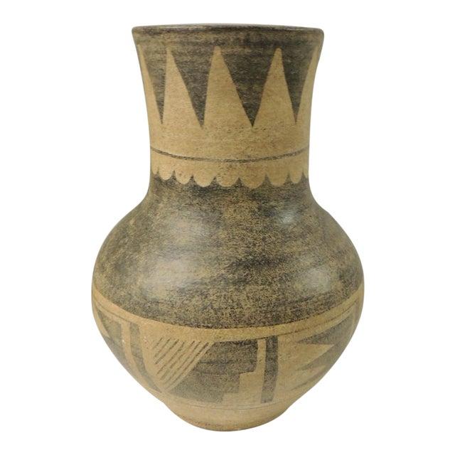 Vintage Mexican Large Terracotta Vase For Sale