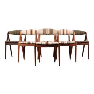 Danish Mid-Century Kai Kristiansen Danish Teak Dining Chairs Mod 31 - Set of 6 For Sale