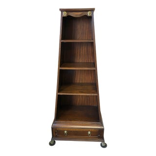 1990s Traditional Theodore Alexander Walnut Etagere For Sale