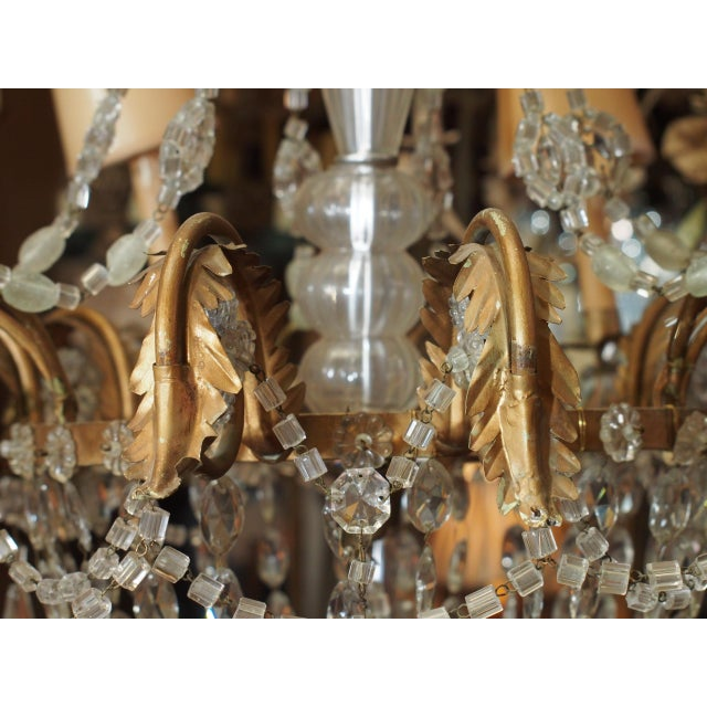 Metal 19th Century French Crystal Chandelier For Sale - Image 7 of 11