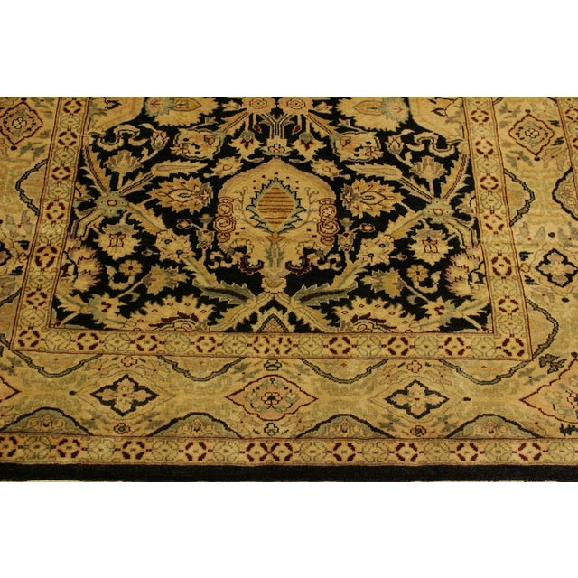 Istanbul Dorla Black/Tan Turkish Hand-Knotted Rug -4'2 X 6'7 For Sale In New York - Image 6 of 8