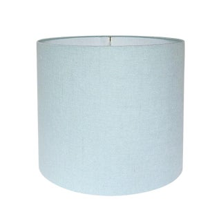 Pindler Linen Robin's Egg Blue Custom Drum Lamp Shade
