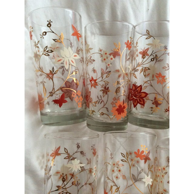 Vintage Libbey Floral Tumblers Set Of 8 Chairish