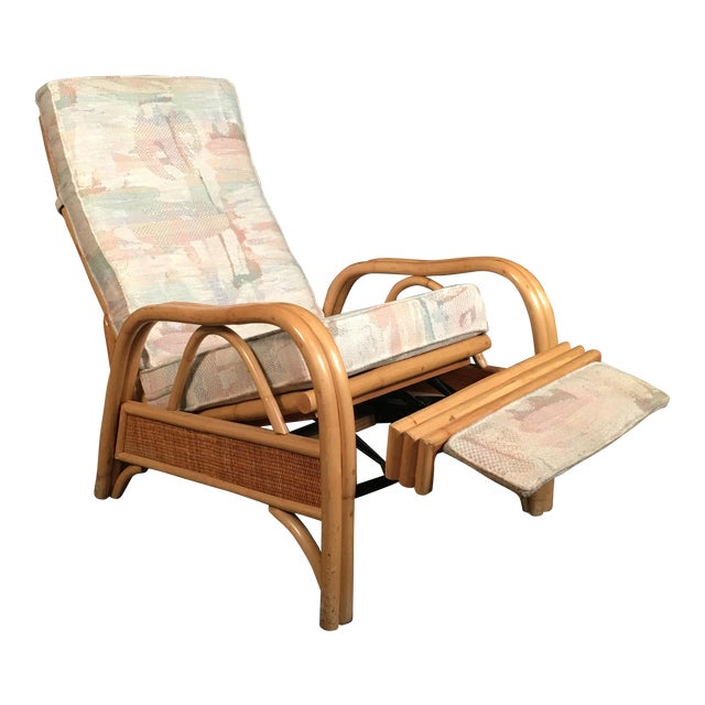 Vintage Rattan Recliner For Sale