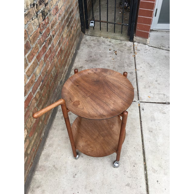 1960s Danish Modern Teak Serving Trolley With Removable Trays For Sale - Image 4 of 5