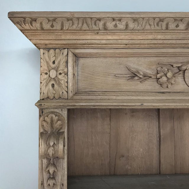 19th Century French Renaissance Stripped Oak Bookcase For Sale - Image 11 of 13