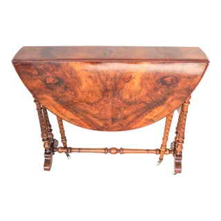 Late 19th Century English Figured Walnut Sutherland Table For Sale