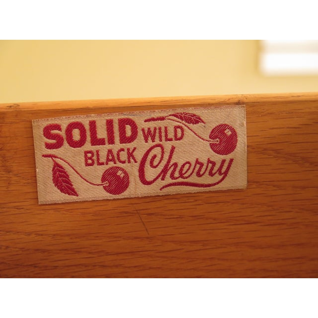 Henkel Harris Solid Cherry Rafferty High Chest For Sale - Image 10 of 13