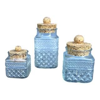 Good Grief Vintage Crystal & Cork Jars- Set of 3