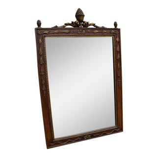 Painted Metal Bedroom Bathroom Vanity Entryway Wall Mirror For Sale