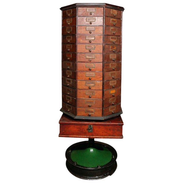 General Store Revolving Cabinet For Sale