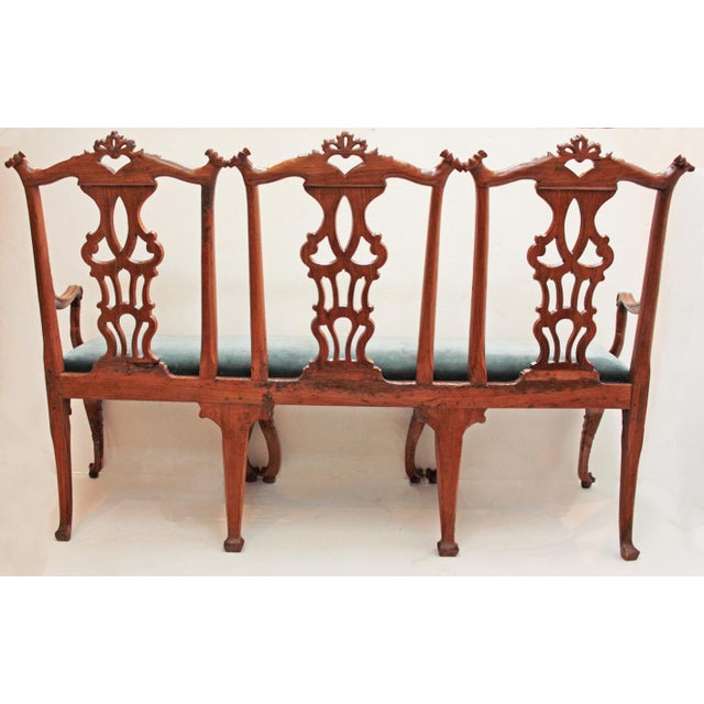 Brown 18th century Continental Chair Back Settee in the George II Taste For Sale - Image 8 of 9
