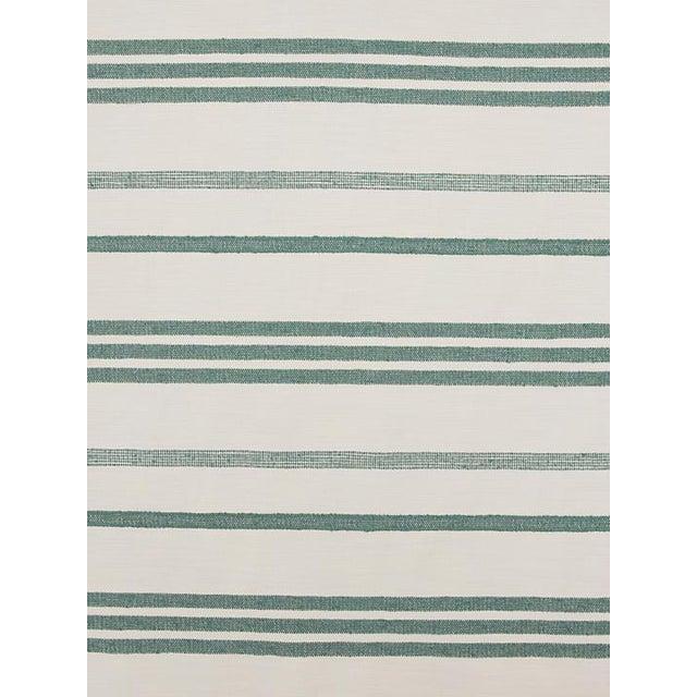 Transitional Sample, Scalamandre Marina Stripe Agave Fabric For Sale - Image 3 of 3