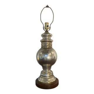 Antique Early 20th Century Mercury Glass Lamp For Sale