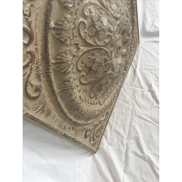 Traditional Style Embossed Metal Decorative Object - Image 7 of 7