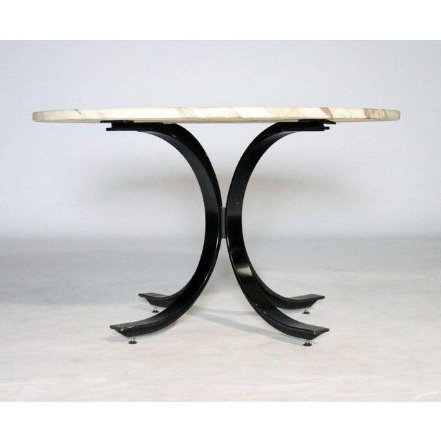 "Unique massive round table design ""T69"" by Osvaldo Borsani and Eugenio Gerli for Techno, Italy. Marble top has exquisite..."