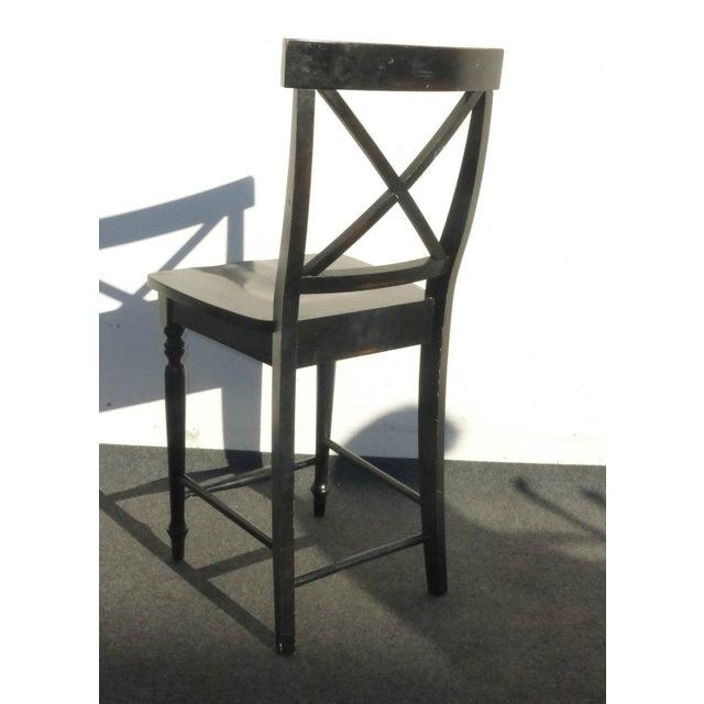 Black Modern Wood Bar Stools - Set of 4 - Image 8 of 11