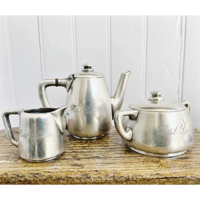 Antique Silver Plated Childs Tea Set From Hotel Lutetia Paris For Sale - Image 13 of 13