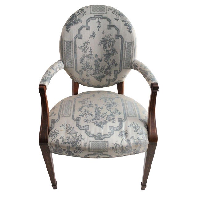 Hickory Furniture Chinoiserie Armchairs - A Pair - Image 2 of 4