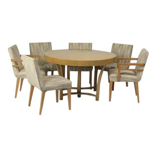 Robsjohn-Gibbings Dining Table and Set of 6 Chairs