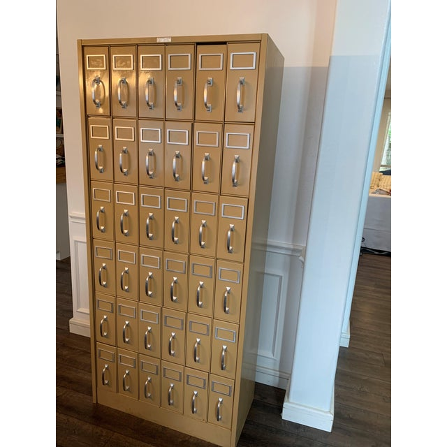 Mid 20th Century Vintage Industrial Filing Cabinet 36 Drawers For Sale - Image 9 of 9