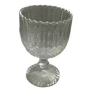 Large Diamond Cut Pedestal Goblet For Sale