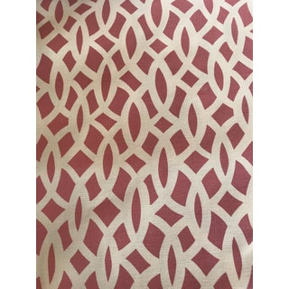 Schumacher Chain Link Cerise Fabric - 3.5 Yards For Sale