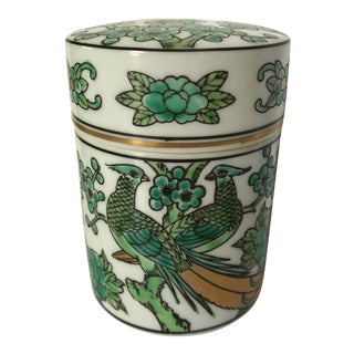 Gold Imari Hand Painted Porcelain Jar