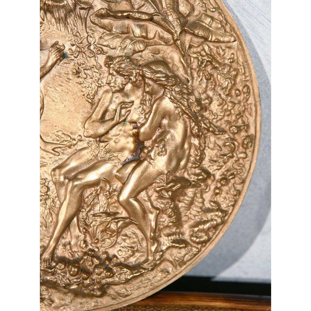 American Classical Bronze Plaque with Adam & Eve For Sale - Image 3 of 7