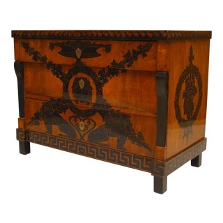 Early 19th Century Italian Neoclassical Penwork Chest For Sale