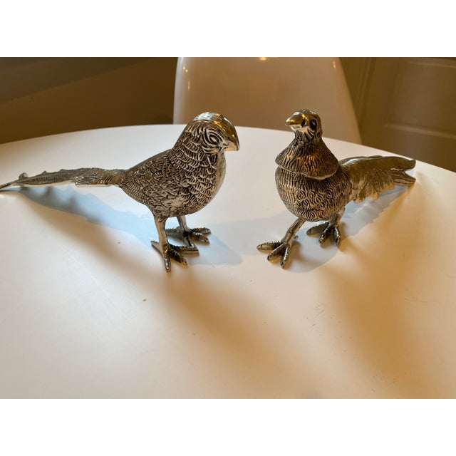 Birds Silver Figurines - A Pair For Sale - Image 4 of 7