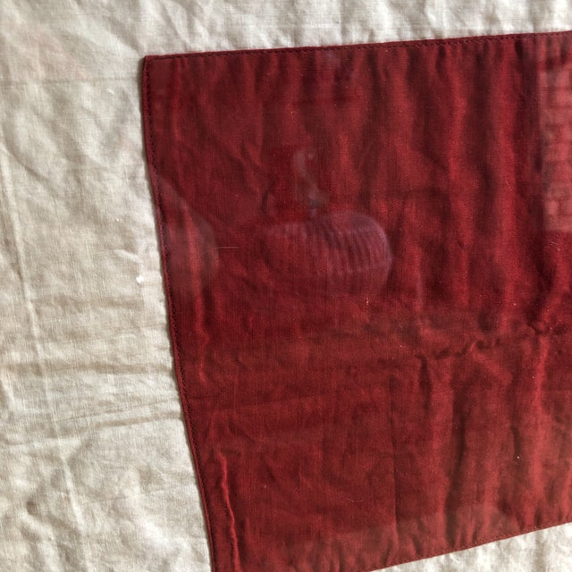 Antique Framed Red Cross Flag For Sale In Dallas - Image 6 of 12