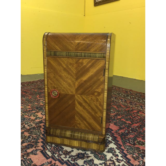 Antique Art Deco Waterfall Style Nightstand - Image 2 of 9