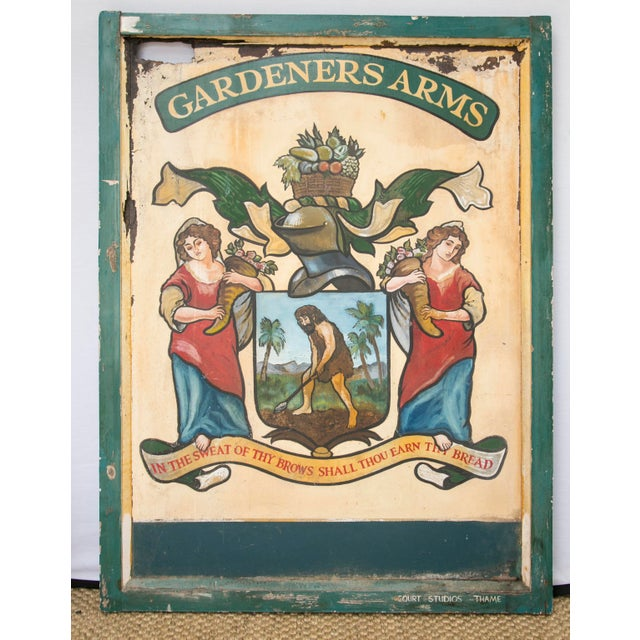 """English """"Gardeners Arms"""" Pub Sign - Image 4 of 7"""