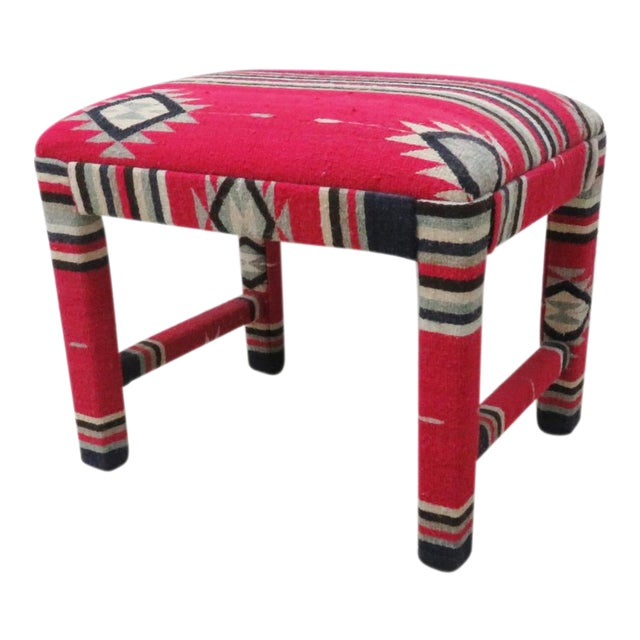 Mid-Century Aztec Parsons Style Stool For Sale