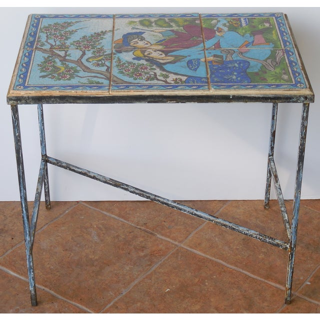 Vintage Persian Tile Coffee Table - Image 2 of 11