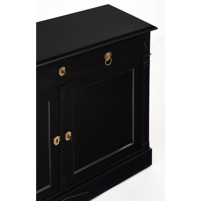 Late 19th Century Ebonized Directoire Style Buffet For Sale - Image 5 of 11